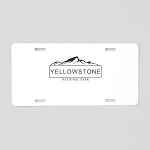 Yellowstone - Wyoming, Mont Aluminum License Plate