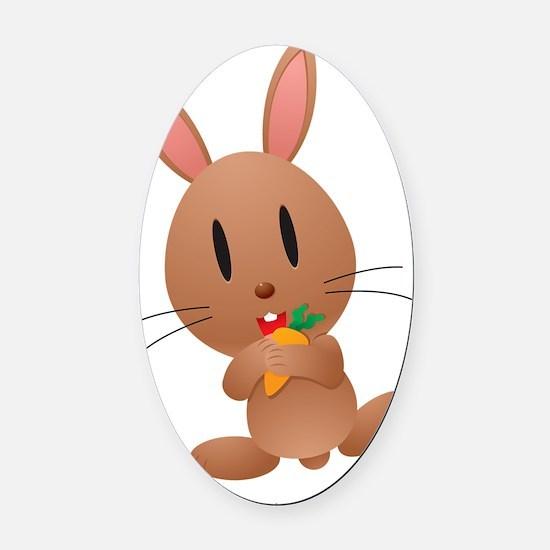Honey Bunny Oval Car Magnet