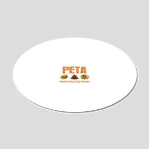 PETA 20x12 Oval Wall Decal