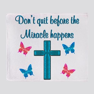 EXPECT MIRACLES Throw Blanket