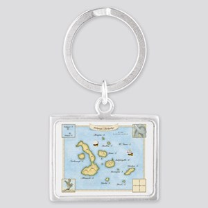 Galapagos Map Landscape Keychain