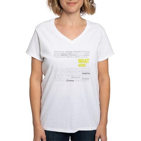 NoMatterWhatDarkPhotoPaint Women's V-Neck T-Shirt
