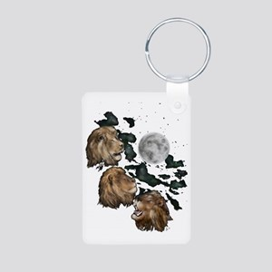 Three Lion Moon by Hever Aluminum Photo Keychain