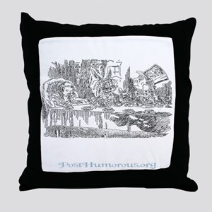 teaparty-dark Throw Pillow