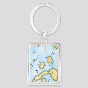 galapagos Journal Portrait Keychain