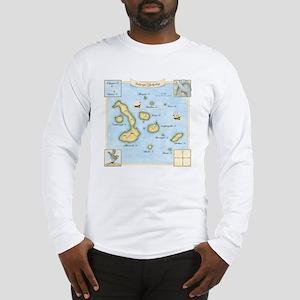 Galapagos Map square Long Sleeve T-Shirt