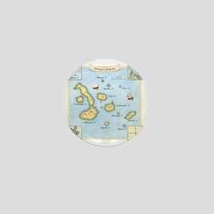 Galapagos Map square Mini Button
