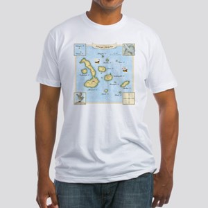Galapagos Map square Fitted T-Shirt