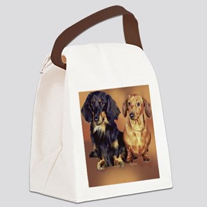 dachshunds-for-blanket Canvas Lunch Bag