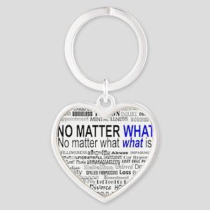 NoMatterWhatToo Heart Keychain