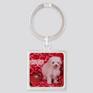 LOVE POODLE 16X16 Square Keychain