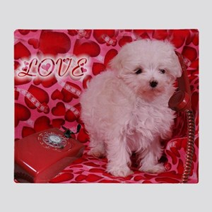 LOVE POODLE 16X16 Throw Blanket