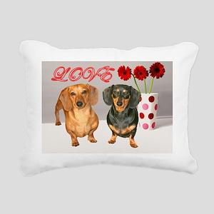 valent dogs 12x16 copy Rectangular Canvas Pillow