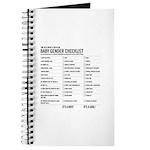 Baby Gender Checklist Journal