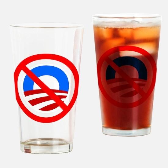 NoBama-symbol-(dark-shirt) Drinking Glass