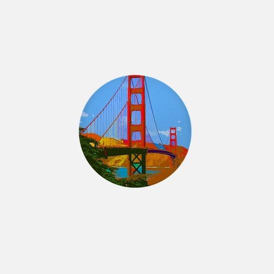 Funny Golden gate bridge Mini Button