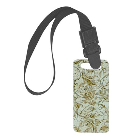 AntScrollRVaGold441_iphone Small Luggage Tag