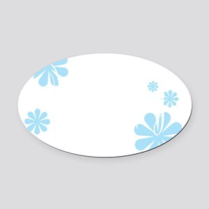 wedding-party-white big Oval Car Magnet