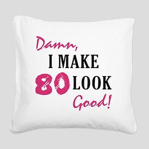 good80_light Square Canvas Pillow
