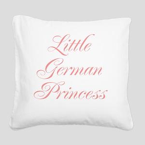 Little German Princess Square Canvas Pillow