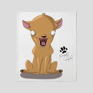 Chalupa Chuck Chihuahua Cartoon Throw Blanket