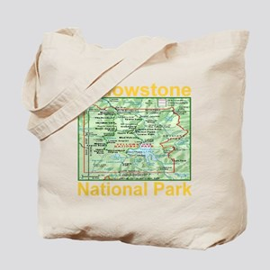 yellowstone_np_map_transparent Tote Bag