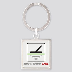 MD Beep Beep Dig Square Keychain