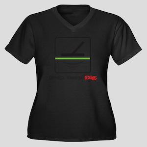 MD Beep Beep Women's Plus Size Dark V-Neck T-Shirt