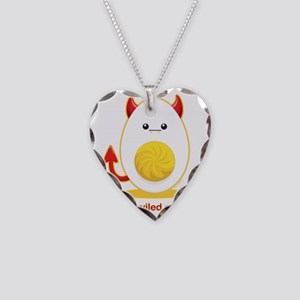 deviledegg Necklace Heart Charm