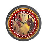 Pouttry Couple Wall Clock