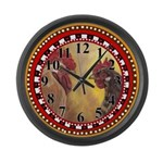 Poultry Pair Large Wall Clock