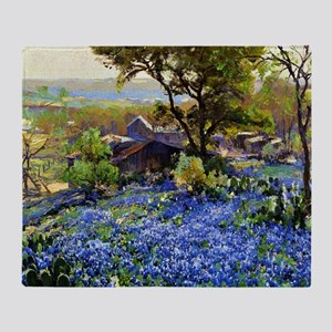 The Quarry, Impressionism landscape  Throw Blanket