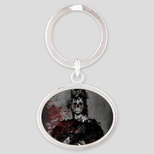 Beautiful Zombie Oval Keychain