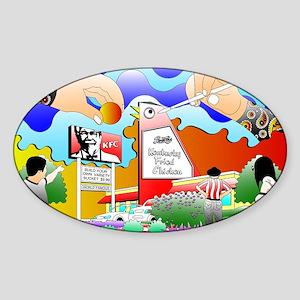 benedictbigchicken Sticker (Oval)