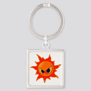 Angry-Sun Square Keychain