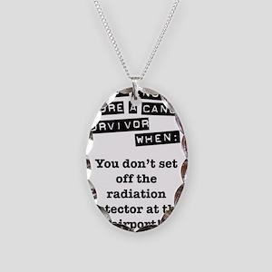 radiation Necklace Oval Charm
