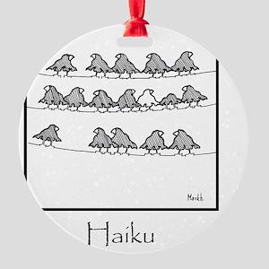 2-Haiku 10x10 Template Round Ornament