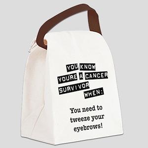 tweeze-eyebrows Canvas Lunch Bag
