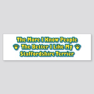 Like My Staffordshire Bumper Sticker