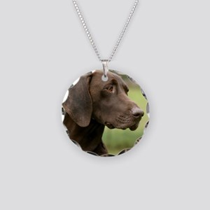 German Shorthaired Pointer 9 Necklace Circle Charm