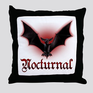 Bat_grey Throw Pillow
