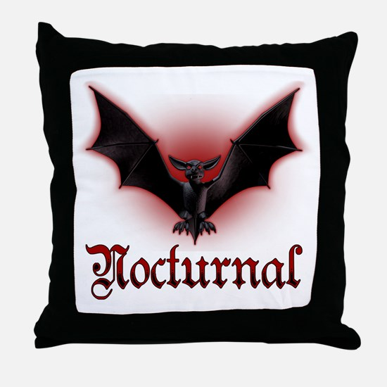 Bat_grey Throw Pillow