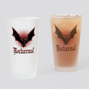 Bat_grey Drinking Glass