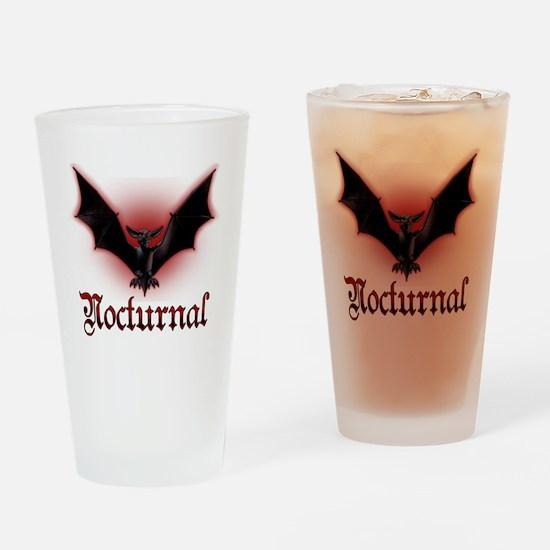 Bat_grey Drinking Glass