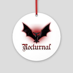 Bat_grey Round Ornament