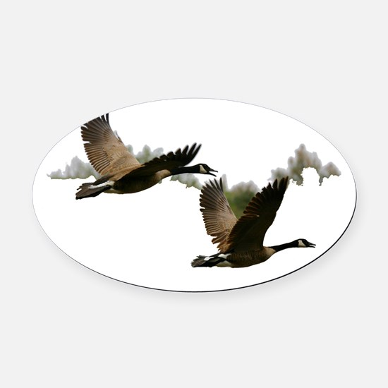 goose 1 Oval Car Magnet