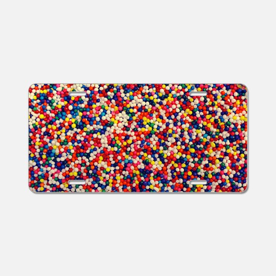 candy-sprinkles_8x12 Aluminum License Plate