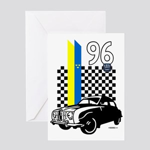 autonaut-saab-checkers-001 Greeting Card