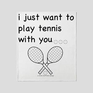 tennis_tr Throw Blanket