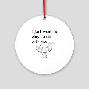 tennis_tr Round Ornament